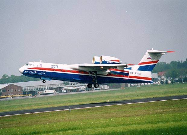 The Beriev Be-200 amphibious multirole twinjet.