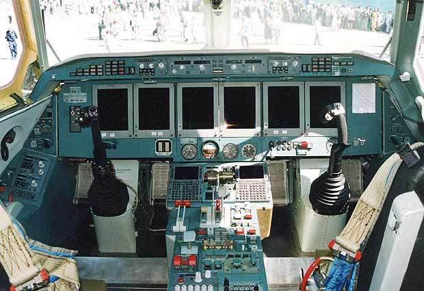 The Be-200 flight deck.