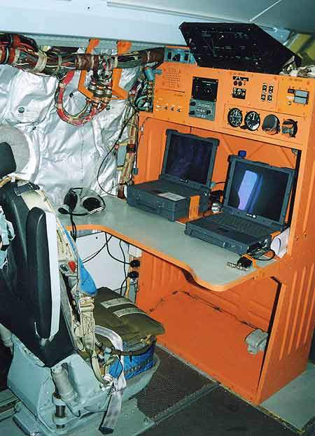 Mission control consoles for the firefighting aircraft.