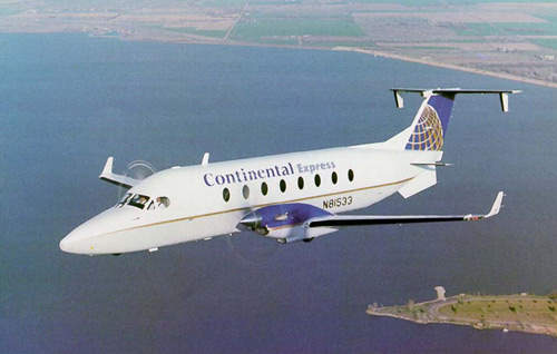 A Beech King 1900D operated by Continental Airlines.
