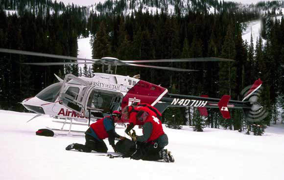 For emergency / air ambulance missions, the cabin accommodates one stretcher patient and medical attendants.