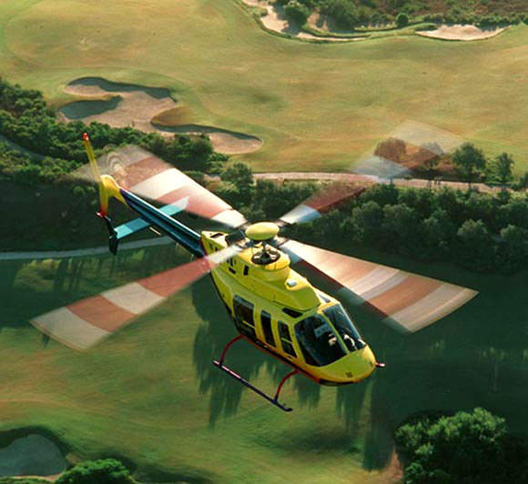 The Bell 407 can fly at an altitude of 5,370m with range of 612km. The maximum and cruise speeds are 259km/h and 224km/h respectively. The service ceiling is 5,698m.
