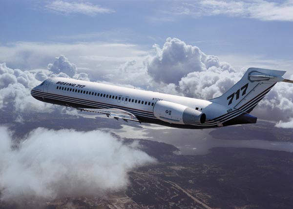 The Boeing 717-200 twinjet is designed for short range, high frequency flights.
