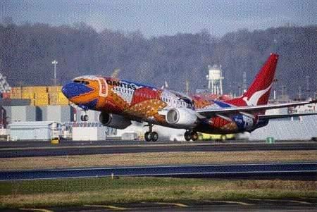 Qantas Airlines' 737-800.
