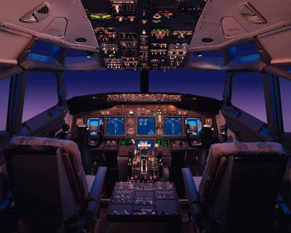 The Boeing 737's New Generation flight deck.