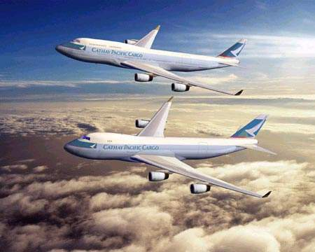 Cathay Pacific Airways is the launch customer for the 747-400 Boeing converted freighter, with an initial agreement to convert six, with options on a further six, 747-400 passenger airplanes into freighters.