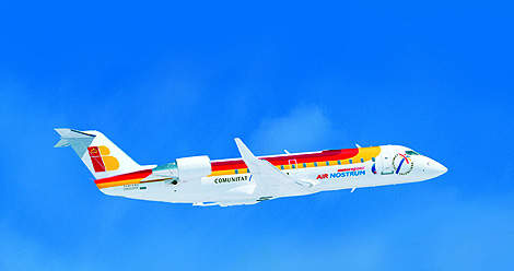 Air Nostrum of Valencia, Spain, has a fleet of 32 CRJ200ER aircraft.