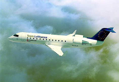 CRJ200ER operated by Cimber Air, a member of Team Lufthansa.