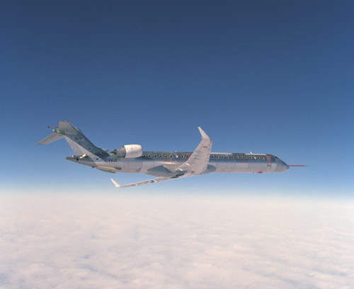 The CRJ900 is the latest member of Bombadier Aerospace Canadair regional jet family.