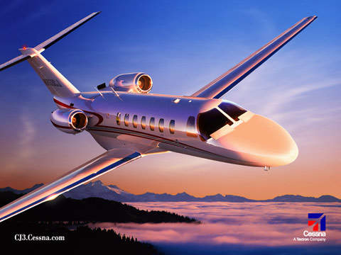 With two pilots, full fuel and four passengers with baggage, the CJ3 has a maximum range of 2,926km (1,580nm).