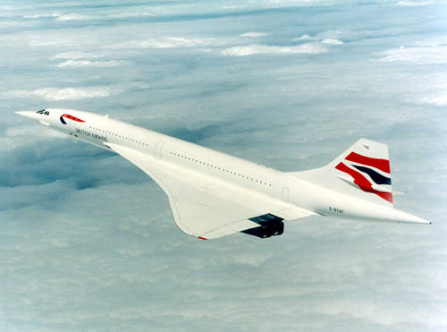 A British Airways Concorde with a new