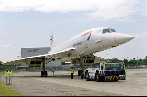 The Concorde aircraft, Alpha Foxtrot, was the first of the British Airways Concordes to be fitted with new Kevlar linings to the fuel tanks.