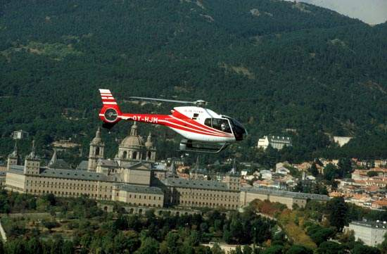 The helicopter has a cruise speed of 226km/h.