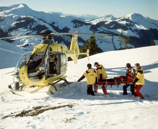 EC 135 in the fleet of OAMTC air ambulance service of Innsbruck, Austria.