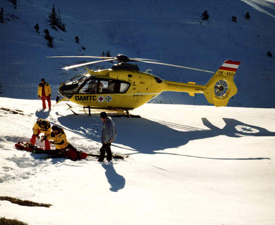 Over 90 EC 135 are being used in air rescue operations worldwide.