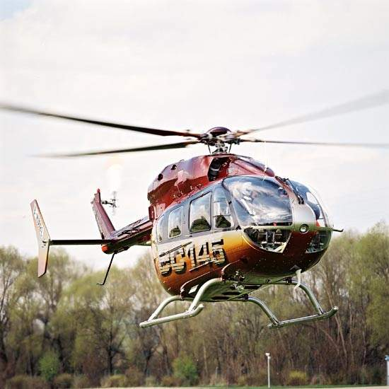 Easy cabin access from all sides make the EC 145 well suited for emergency services (EMS) applications.