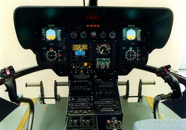 The helicopter is fitted with an all glass Thales Avionics Meghas avionics suite.
