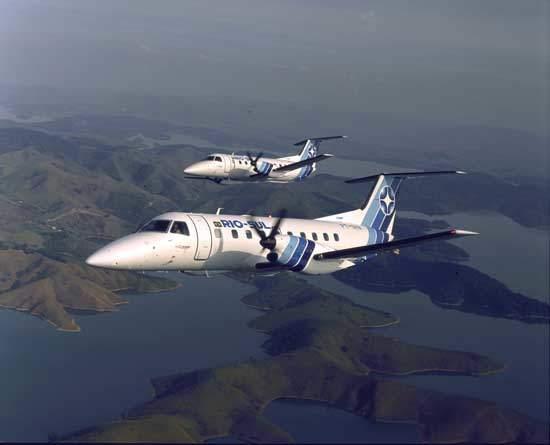 The Rio-Sul regional airline of Rio de Janeiro operates twelve EMB-120.