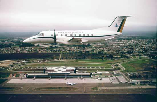 The Brazilian Air Force operates two VIP transport versions of the EMB-120 aircraft.