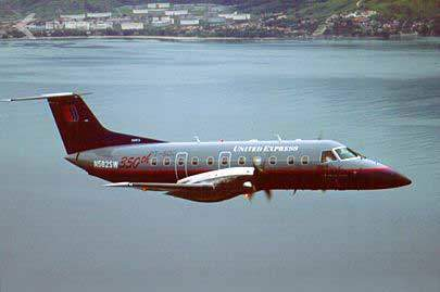EMB-120 in the colours of United Express.