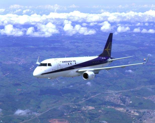 The Embraer 170 is the first member of a new family of commercial jets currently being built by Embraer of Brazil.