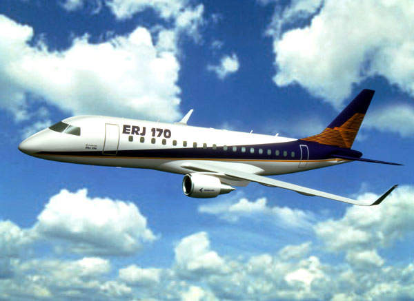 The ERJ-170, redesignated Embraer 170, took its maiden flight in February 2002.