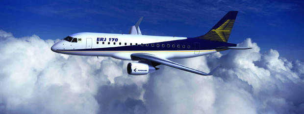 The Embraer 170 is powered by two GE CF34-8E jet engines fitted with FADEC.