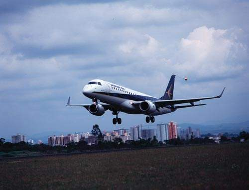 The Embraer 190 regional jet took its first flight on 12 March 2004, from Embraer's Sao Jose dos Campos facility.