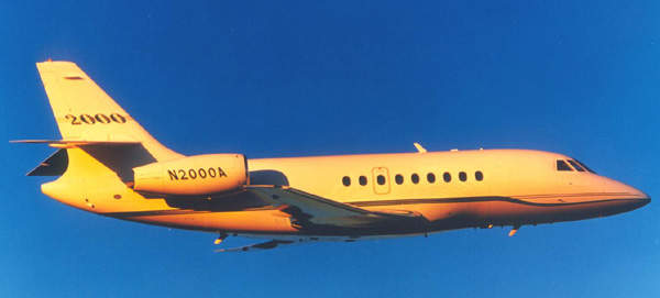The Falcon 2000 entered service in 1995.