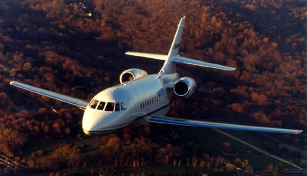 The Falcon 2000 has a range of 5,778km.