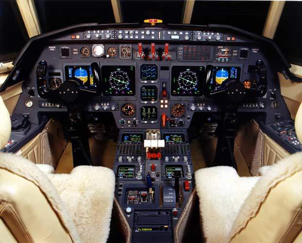 The cockpit avionics suite is the Rockwell Collins Pro Line 4.