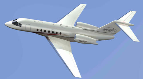 The aircraft is powered by two PW308A turbofan engines from Pratt & Whitney Canada, with target thrust reversers and Full Authority Digital Engine Control (FADEC).