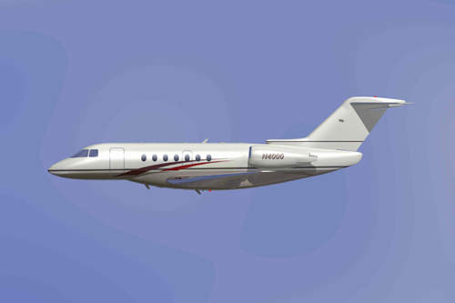 Side view of the Hawker 4000.