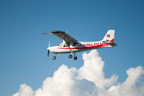 Merlin LSA is a two-seat ,high-wing, light sport aircraft (LSA). Image courtesy of Glasair Aviation.