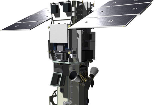 WorldView-3 satellite will provide advanced earth observations and geospatial solutions. Image courtesy of Ball Aerospace.