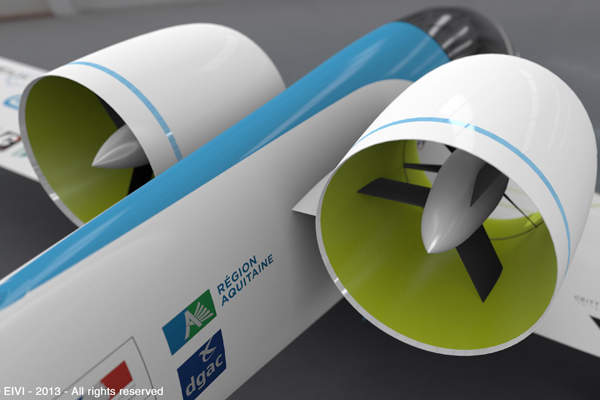 The aircraft is driven by two electric motors with a combined power of 60kW. Copyright: Airbus Group.