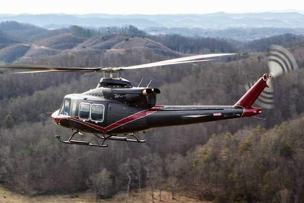 The helicopter features an improved tailboom that optimises the airflow and lift. Image courtesy of Bell Helicopter Textron Inc.