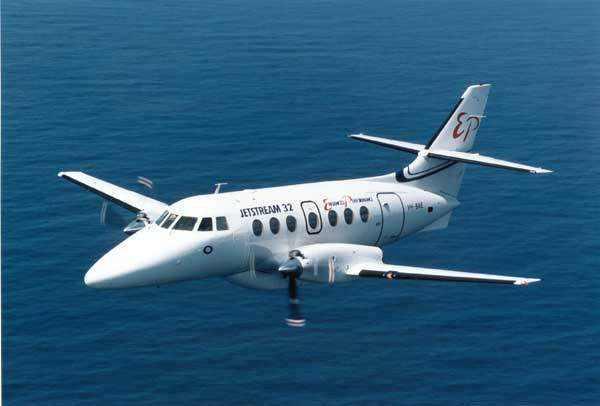 The BAE Systems 19-seat Jetstream 32EP.