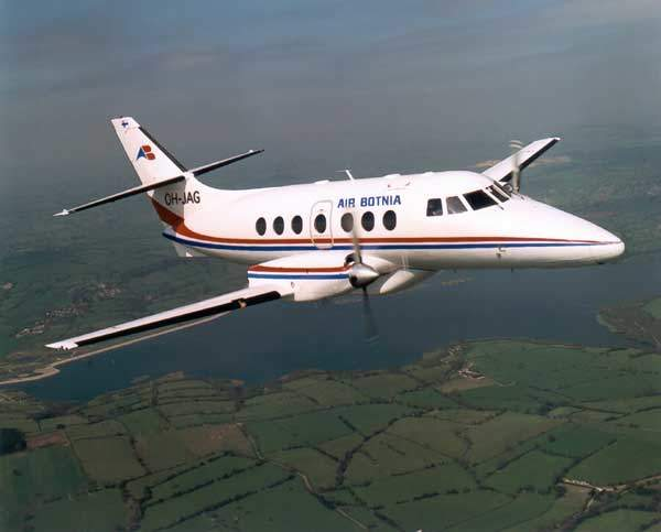 A Jetstream 32 leased to Air Botnia (now Blue 1) of Finland by BAE Systems Regional Aircraft Asset Management.