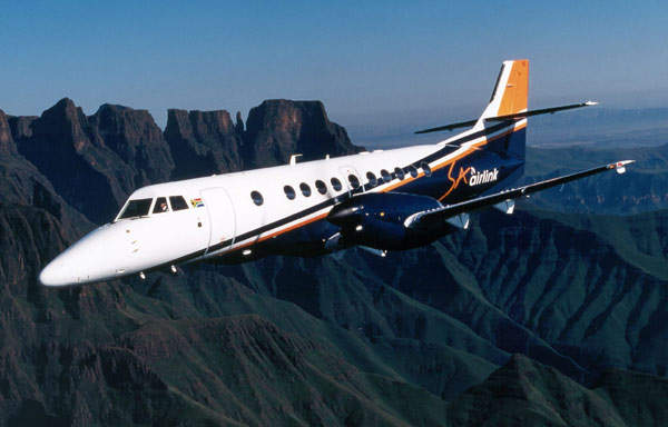 South African Airlink of Johannesburg operates a fleet of Jestream 41 aircraft.