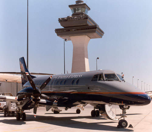 Jetstream 41 in United Express livery at Washington Dulles International Airport