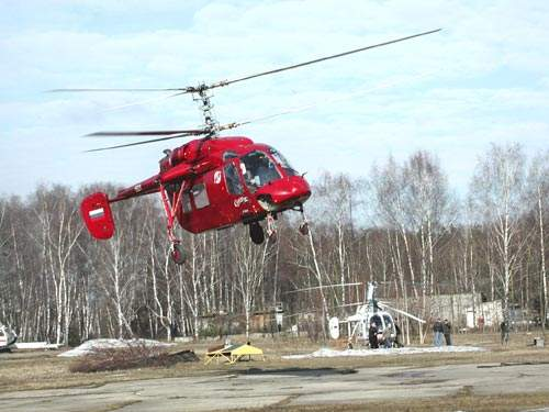 The Ka-226 design features the characteristic Kamov co-axial contrarotating rotor and absence of a tail rotor.