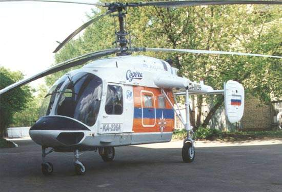 Air ambulance, police helicopter, fire fighting and rescue variants of the Ka-226 have been developed.