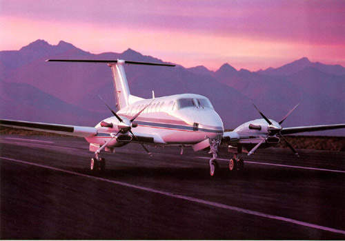 The 350 has four-bladed, aluminium alloy automatic feathering reversible-pitch propellers.
