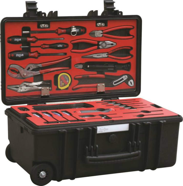 A red toolkit