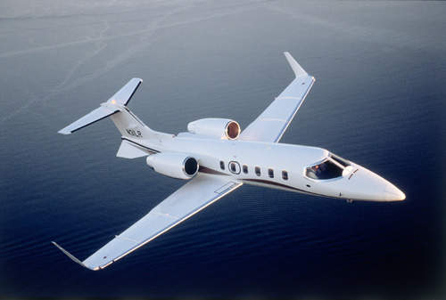 The Learjet 31A light business jet entered service in 1994.