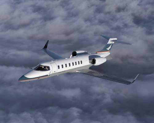 The Learjet 45. Over 2000 Learjets have been built and are in operation as corporate jets worldwide.