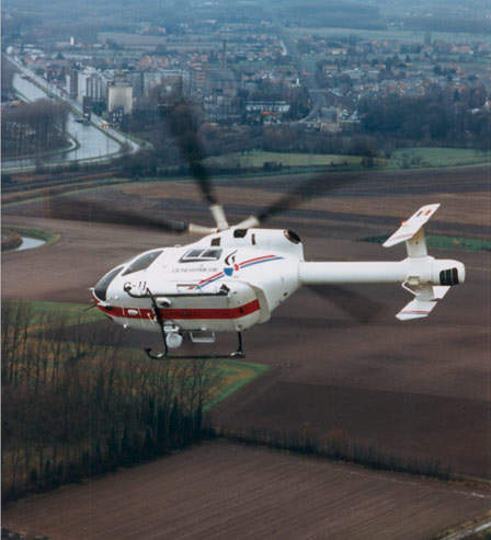 Instead of a tail rotor, the MD Explorer is equipped with the NOTAR anti-torque system.