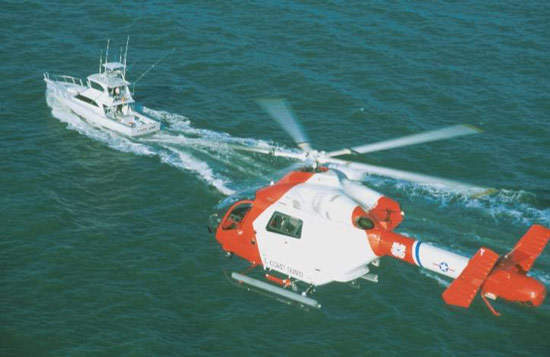 The MH-90 Enforcer in service with the US Coast Guard is armed with an M240 7.62mm gun.