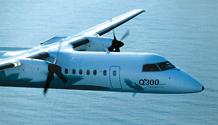 Air Nippon of Japan bases its Q300 aircraft at Tokyo's Haneda Airport.
